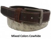 S-A8.4 Cowhide Leather Belt 4x120cm Adjustable 101-111cm Mixed Colors