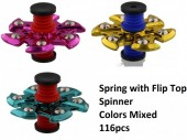 L-F2.4 Spring with Flip Top Spinner      116pcs