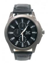 A-B22.2 W523-011A Quartz Watch with PU Strap 45mm Black