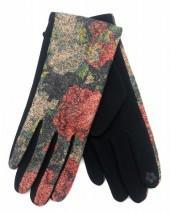 R-K2.1 GLOVE403-076A Glove Flowers  Red