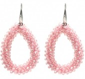 F-D8.4  E007-001K Facet Glass Beads 4.5x3.5cm Pink