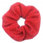 S-D5.5 H305-045N Glitter Scrunchie Red