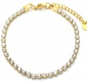 B-C8.3 B301-032G S. Steel Bracelet with Crystals GoldB-C8.3 B301-032G S. Steel Bracelet with Crystals Gold