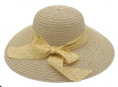 Y-E1.1 HAT210-027C Hat with Bow 39cm for Kids Light Brown