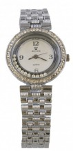 A-G9.3 Quartz Watch Metal with Crystals 30mm Silver
