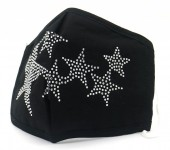 T-C3.1 FM042-016A  - Cotton Fashion Mask with Room for Filter Washable - Crystals