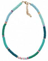 F-F6.1 N536-103F Necklace LOVE 42-48cm Blue