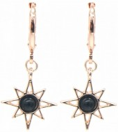 G-E4.2  E532-003R Earrings Sun Black-Rose Gold