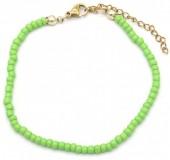 B-A8.1 B2061-001M Bracelet with Glass Beads Green