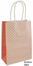 Q-C2.1  PK525-010C Paper Giftbag 21x15cm Orange 12pcs