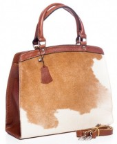 Q-G5.2 BAG-795 Luxury Leather Bag 36x30x12cm Brown with mixed color Cowhide