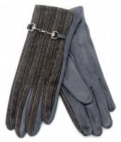 R-N3.1 GLOVE403-063C Rib Fabric Gloves Grey