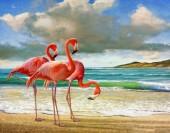 R-I2.2 GX583 Diamond Painting Set Flamingos 40x30cm