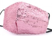 H-F15.1  FM042-026A Glitter Face Mask - Individually Packed - Pink