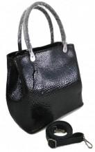 T-C4.2 BAG-943 Luxury Leather Bag Snake 35x27x13cm Black