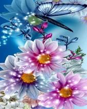 Y-F6.5 X380 Diamond Painting Set Flowers  40x30cm