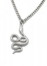 B-B8.3 N010-029S S. Steel Chain Necklace with 3cm SnakeB-B8.3 N010-029S S. Steel Chain Necklace with 3cm Snake