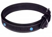 H-F16.2 MTDC-004 Leather Dog Collar Black XS 44x2cm