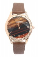 E-A5.4  W523-078 Quartz Watch 36mm with Crystals Brown
