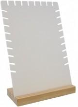 T-I3.2 PK424-031B Jewelry Display Wood with Plastic 28x18x8cm