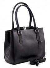Q-K1.1 Luxury Leather Bag 35x26cm Black