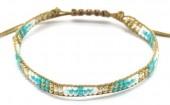 J-A11.1  B2039-017B Bracelet with Glassbeads Brown-Multi
