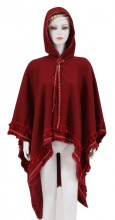 Z-E3.4 SCARF409-040 Exclusive Hooded XL Scarf Bordeaux Red