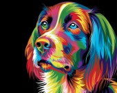 Y-C1.4 MS9260 Paint By Number Set Dog 50x40cm