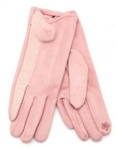R-L7.2 GLOVE403-092A Gloves with Pompon Pink