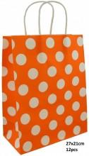 T-I3.1 PK525-009D Paper Giftbag 21x15cm Orange 12pcs