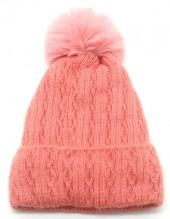 T-N8.1 HAT005-014G Beanie with Pompon Pink