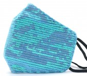 G-C11.1 FM042-026N Glitter Face Mask - Individually Packed - Blue