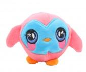 Z-F5.4 TOY308-001E Plush Squishy Penguin Pink-Blue 8x8 cm