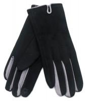 S-B4.2 GLOVE501-005D Soft Gloves Two-Tone Grey-Black