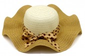 Y-B5.3 HAT210-028A Hat with Bow 41cm for Kids Yellow