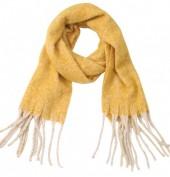 Z-C5.3 SCARF405-056D Soft Winter Scarf 190x50 cm Yellow