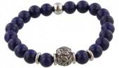 B-D3.2 S. Steel Bracelet with Semi Precious Stones Blue