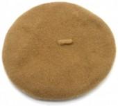 Y-E4.5 HAT502-001E Trendy Woolen Baret Adjustable Size Brown