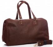 T-G8.2 BAG-921 Luxury Leather Travel-Sport Bag 47x32x16cm Brown