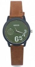 C-D6.3 K-1676 Quartz Watch with PU Strap 35mm Brown