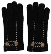 K-E2.1 TR-2013 Gloves with Buttons Black