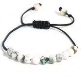 B-E6.4 B1639-021C Bracelet with 6mm Stones