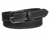 S-I3.1 BELTI-002 Grain Leather Belt Black 3.5x110cm