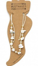 E-F3.1 ANK221-017 Anklet with Stones White