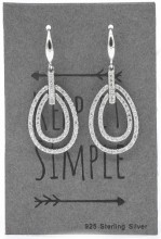 E103-026 925 Sterling Silver Exclusive Earrings with Cubic Zirconia