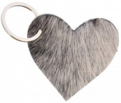 A-G2.1 Leather Cowhide Keychain Heart Mixed Colors 6.5cm