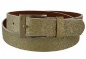S-D4.3  PU Belt 110cm with Glitters Adjustable 85-110cm Gold