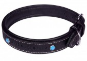 H-F8.2 MTDC-004 Leather Dog Collar Black M 53x2.5cm
