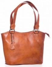 Q-D4.2 BAG-553 Leather Bag 40x28x11cm Brown