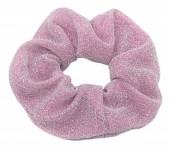 S-D6.5  H305-045O Glitter Scrunchie Purple-Pink